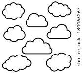 Various Black Cloud Outlines...
