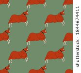 Seamless Animal Pattern With...