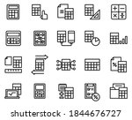 simple set of calculation icons ...   Shutterstock .eps vector #1844676727
