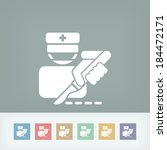 surgeon bistoury | Shutterstock .eps vector #184472171