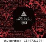 alchemy background in vintage...   Shutterstock .eps vector #1844731174