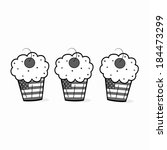 july 4th cupcakes | Shutterstock . vector #184473299