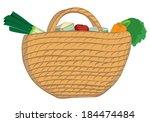 illustration of a wicker... | Shutterstock . vector #184474484