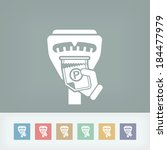 parking meter ticket | Shutterstock .eps vector #184477979