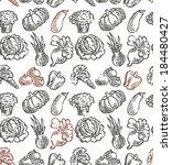 vegetable pattern | Shutterstock .eps vector #184480427