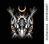 metal grim tattoo vector design   Shutterstock .eps vector #1844818687