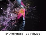 direct hit  paintball game  | Shutterstock . vector #18448291