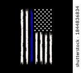 thin blue line american flag... | Shutterstock .eps vector #1844836834