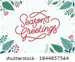 Season's Greeting Lettering...
