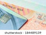 passport stamp visa and credit... | Shutterstock . vector #184489139