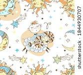a fun seamless pattern for kids.... | Shutterstock .eps vector #1844930707