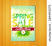spring sale collection. vector... | Shutterstock .eps vector #184493375