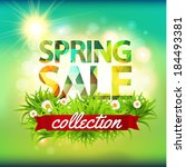 spring sale collection. vector... | Shutterstock .eps vector #184493381