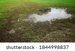 Blurred Flooded Soccer Field...