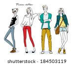 fashion young people | Shutterstock .eps vector #184503119