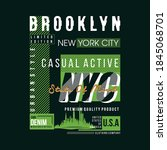 brooklyn casual active graphic...   Shutterstock .eps vector #1845068701