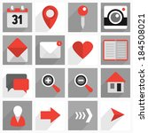 set of flat icons with long... | Shutterstock .eps vector #184508021