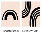 mid century modern backgrounds  ... | Shutterstock .eps vector #1845094984