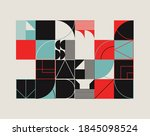 modern artwork of abstract... | Shutterstock .eps vector #1845098524