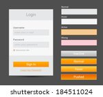 login form. vector ui elements...