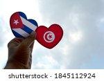Hand Holds A Heart Shape Cuba...