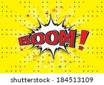 boom    comic speech bubble ... | Shutterstock .eps vector #184513109