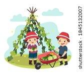 vector illustration cartoon of... | Shutterstock .eps vector #1845132007
