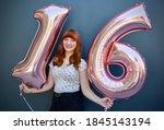 Sweet Sixteen Girl With Balloons