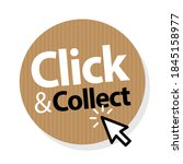 click and collect on brown... | Shutterstock .eps vector #1845158977