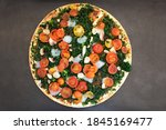 A Whole Round Vegan Pizza With...