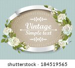 vintage invitation card with... | Shutterstock .eps vector #184519565