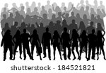 group of people  | Shutterstock .eps vector #184521821
