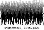 group of people  | Shutterstock .eps vector #184521821