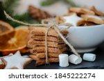 homemade christmas cookies in... | Shutterstock . vector #1845222274