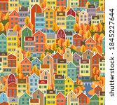 cityscape seamless pattern with ...   Shutterstock .eps vector #1845227644