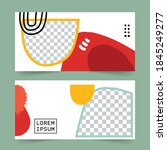 editable minimal abstract... | Shutterstock .eps vector #1845249277