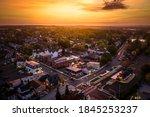 Aerial Drone Sunrise In...