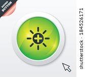 sun plus sign icon. heat symbol....