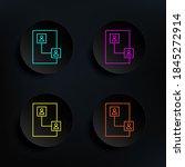 connect network dark badge...