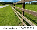 Wooden Fence  Farmland  Grass...