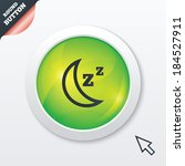 sleep sign icon. moon with zzz...