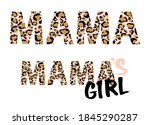 Leopard Mama Print Vector...