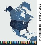 set maps of north america | Shutterstock .eps vector #1845291511