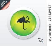 umbrella sign icon. water drop...