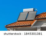 Solar Water Heater On The Roof...