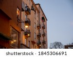 building in stockholm decorated ... | Shutterstock . vector #1845306691