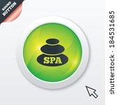 spa sign icon. spa stones...