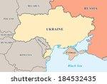 crimea annexation map.... | Shutterstock .eps vector #184532435