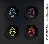 bull dark badge color set icon. ...