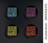 labyrinth dark badge color set...